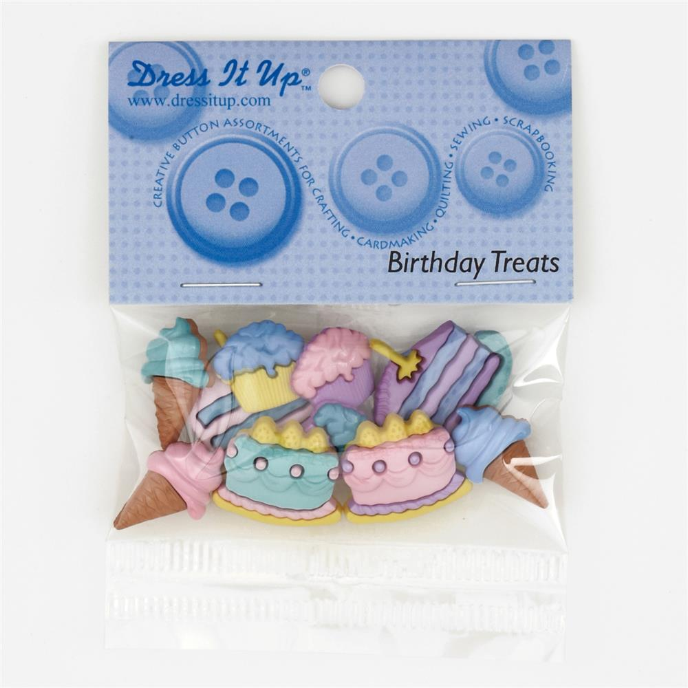 Dress It Up Embellishment Buttons  Birthday Treats