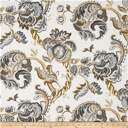 Waverly Summer Canvas Chintz Noir Fabric
