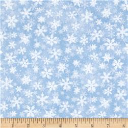 Sleigh Ride Snowflakes Blue