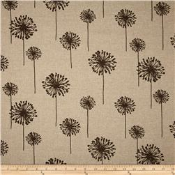 Premier Prints Dandelion Blend Denton Brown Fabric