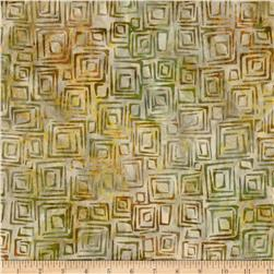 Nature's Textures Batiks Geo Square Bamboo