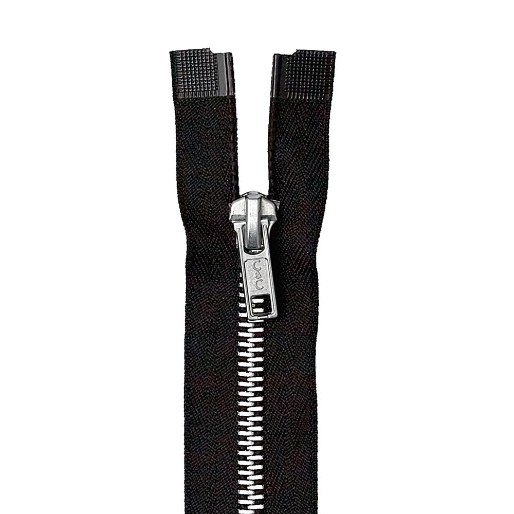Coats & Clark Heavy Weight Aluminum Separating Zipper 20'' Black
