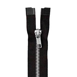 "Coats & Clark Heavy Weight Aluminum Separating Zipper 20"" Black"