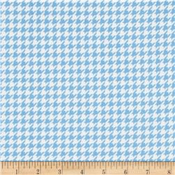 Kimberbell Little One Flannel Too! Flannel Houndstooth White Blue