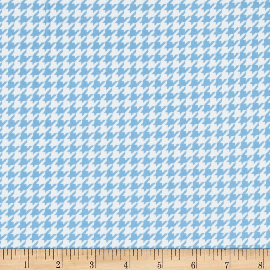 Kimberbell Little One Flannel Too! Houndstooth White/Blue Fabric by E. E. Schenck in USA
