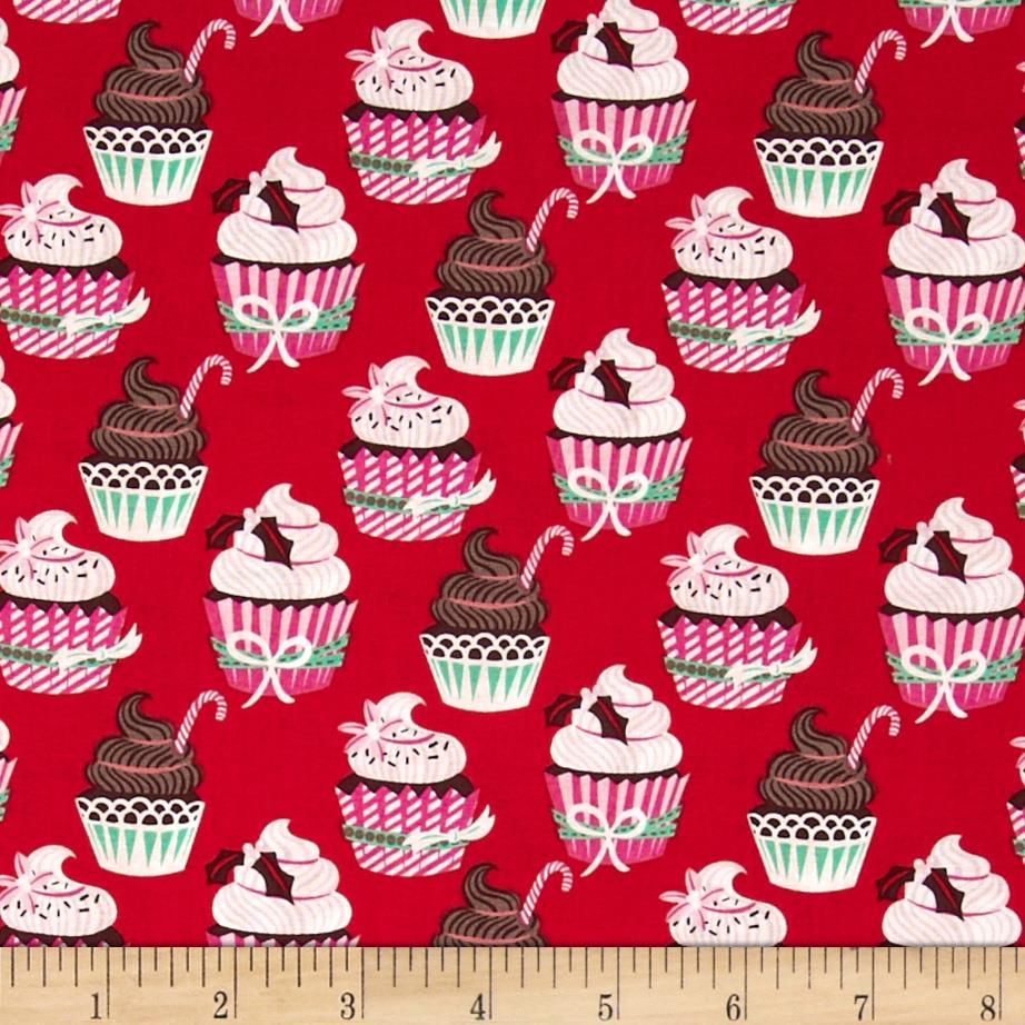 Sugar Rush Holiday Cupcakes Red