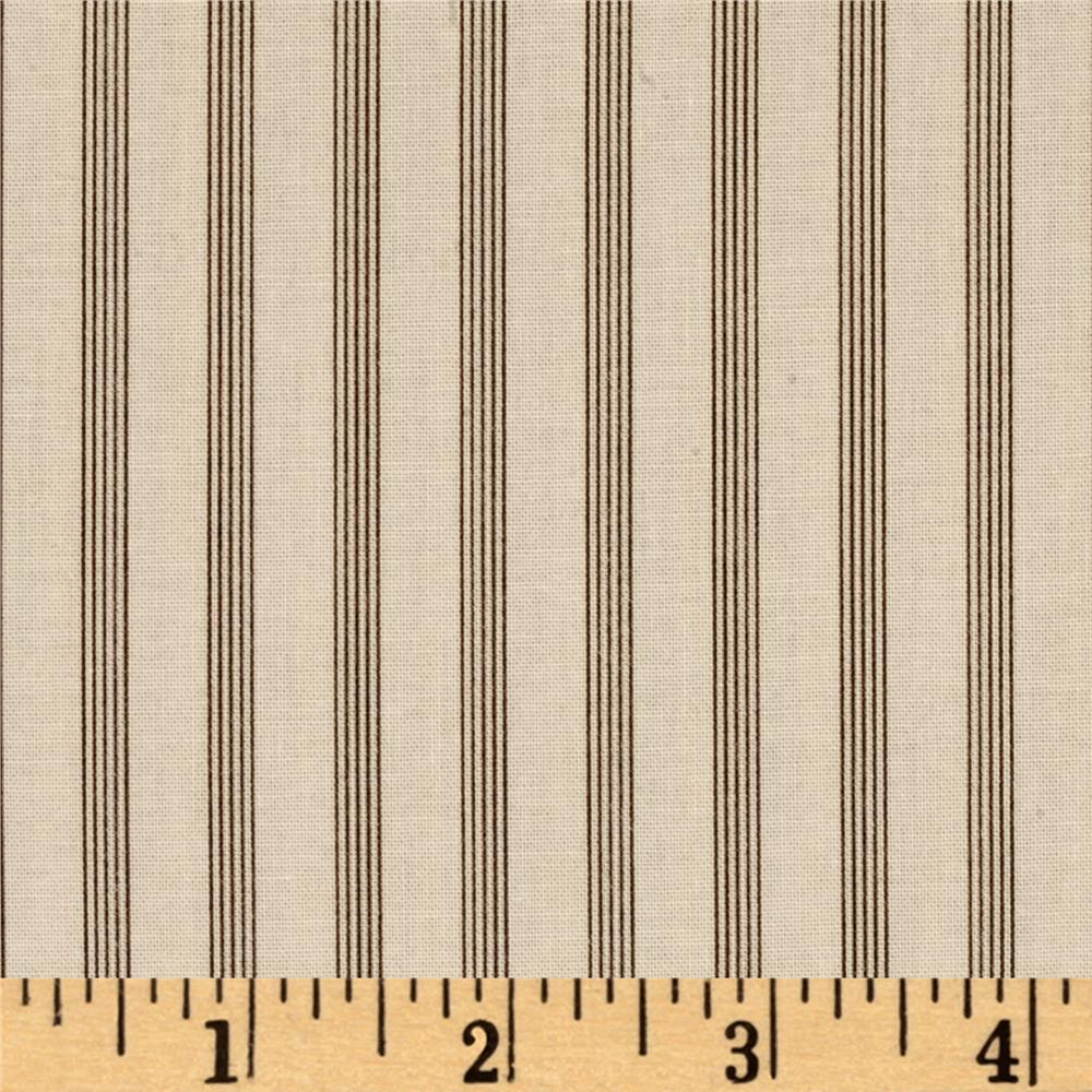 Windham Threads of Time Multi Stripe  Cream