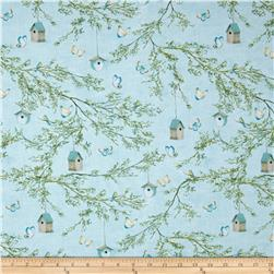 Lakeside Retreat Branches Allover Light Blue