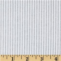 Cotton Voile Sheer Stripe White