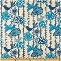 Premier Prints Menagerie Arctic Blue/Natural