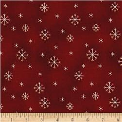All Things Christmas Snowflake Dark Red