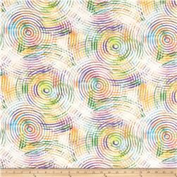 "Circle Play 108"" Wide Back Ombred Circle Geometric White Pastel"