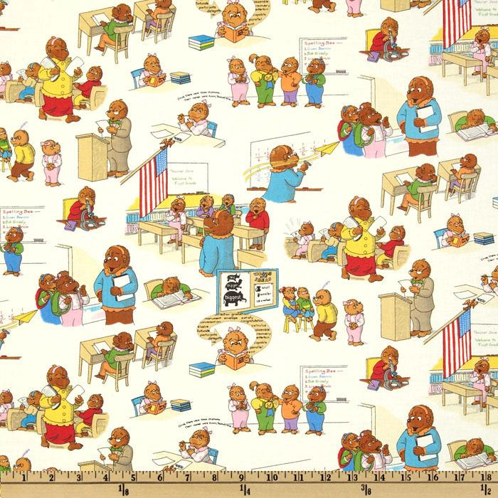 Moda Bear Country School Classroom Scenes White
