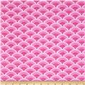 Comfy Flannel Scallops Pink