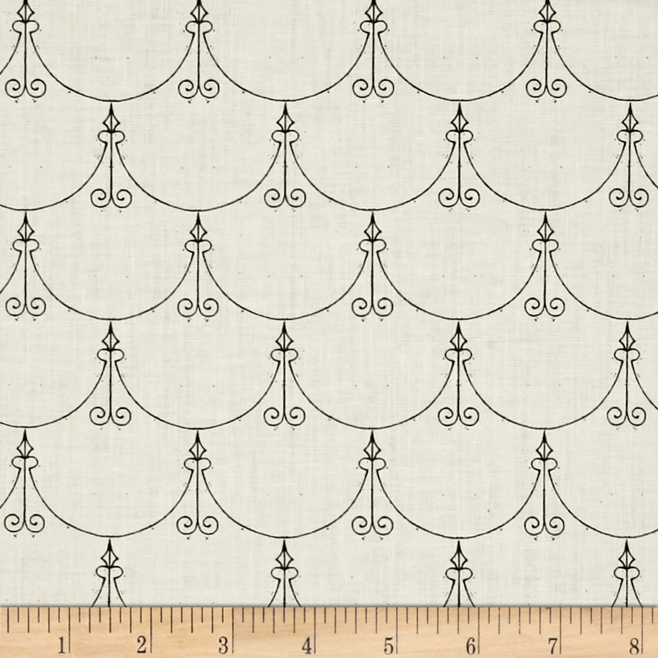 Queen Of Ween Regal Scallop Ecru Fabric