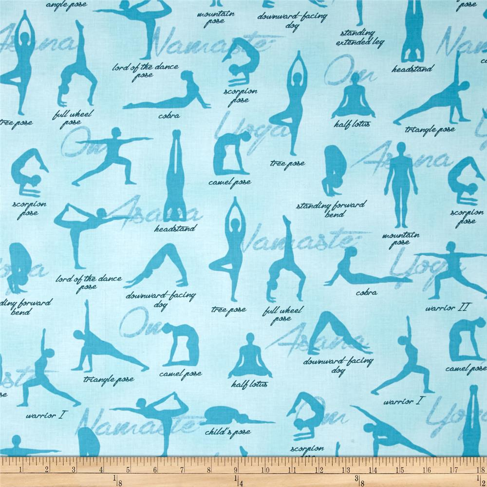Kaufman Sports Life Yoga Positions Aqua