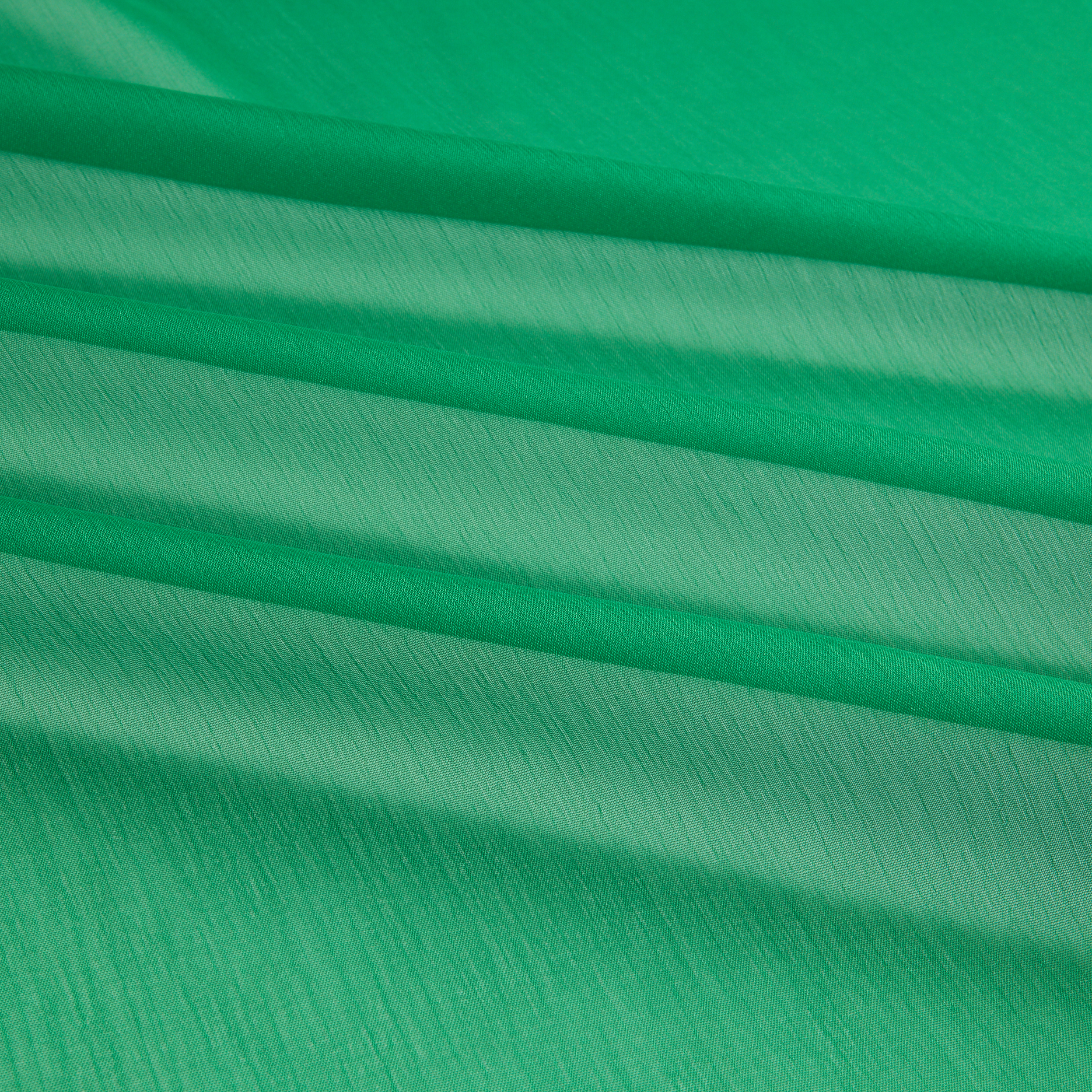 Two Tone Chiffon Flag Green Fabric