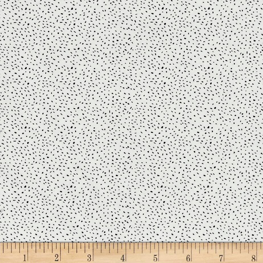 Sweet Florals Scattered Dot White