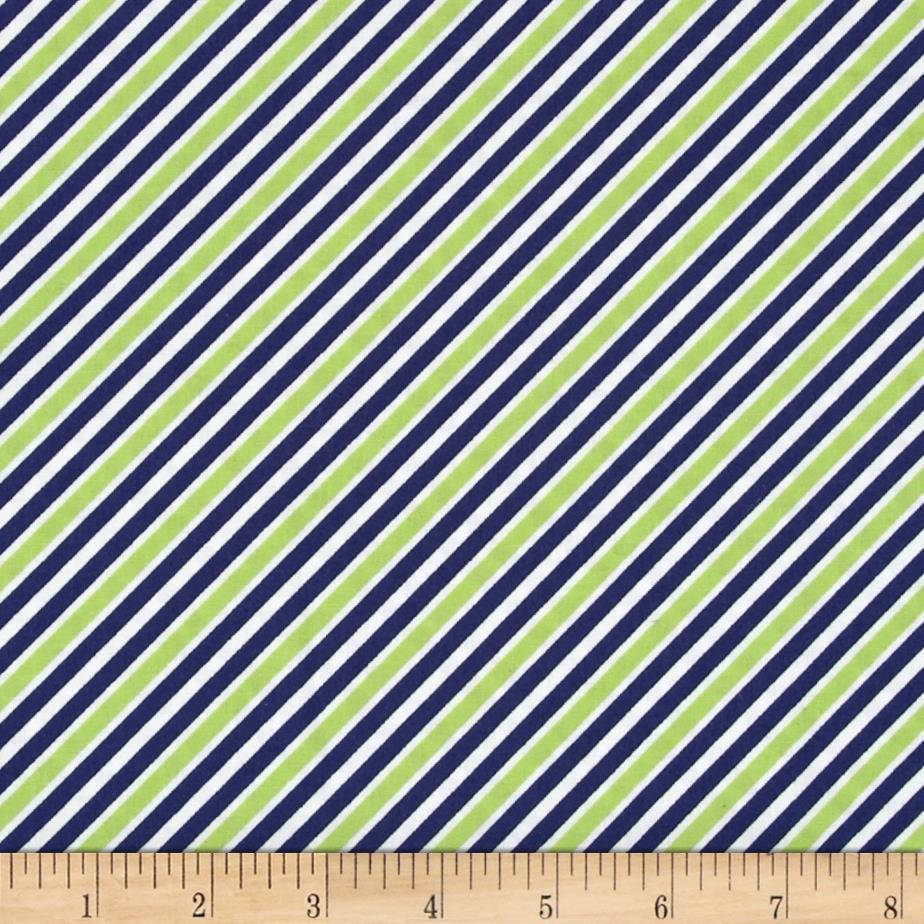 Kaufman Remix Diagonal Stripe Navy