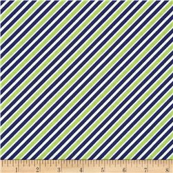 Robert Kaufman Remix Diagonal Stripe Navy