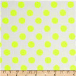 Riley Blake Dots Neon Yellow Fabric
