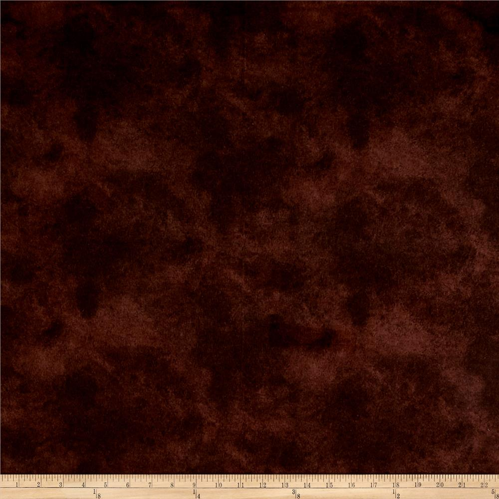 Suede Flannels Brown Fabric