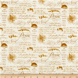 Christmas Elegance Holiday Phrases Cream