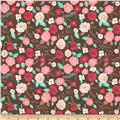 Moda Into the Woods Woodland Blooms Dark Bark