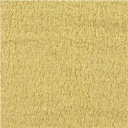 Terry Cloth Yellow Fabric