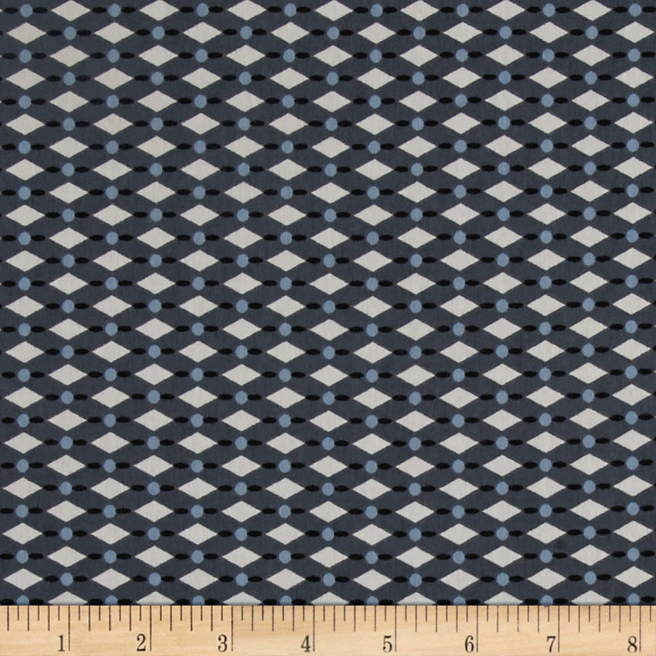 Avalana Jersey Knit Harlequin Gray Fabric by Stardom Specialty in USA
