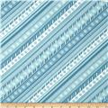 Sweetie Pie Snowmen Candy Stripe Blue