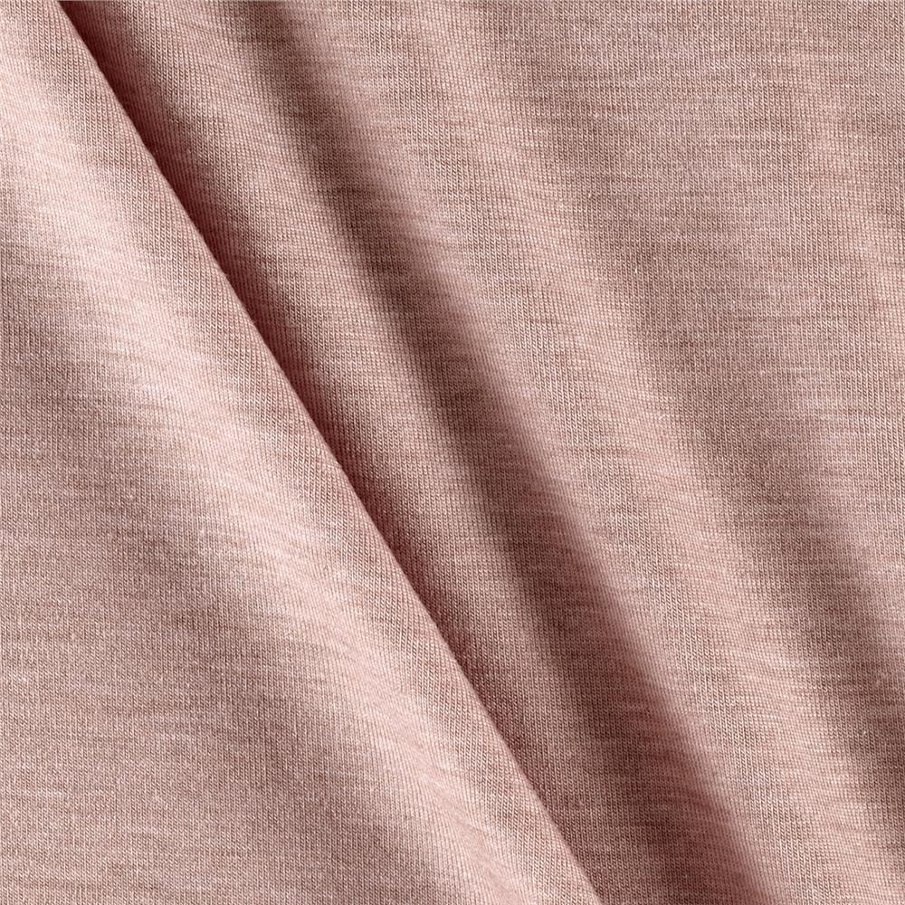 Designer Super Stretch Jersey Knit Solid Rose