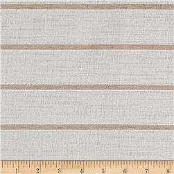 "108"" Sheer Chenille Stripe Natural"