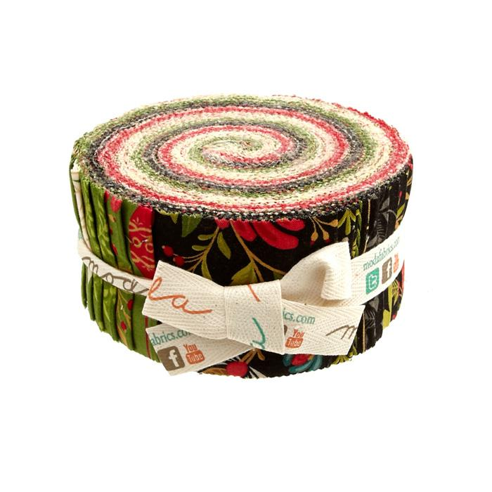 Moda Tole Christmas 2.5 In. Jelly Roll Multi