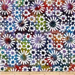 Indian Batik Cascades Daisy Dark Multi