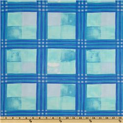 Tea Garden Meditation Plaid Blue