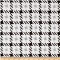 Whisper Plush Fleece Houndstooth Black/White
