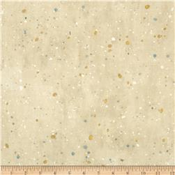 Robert Kaufman Sound of the Woods Metallic Spatter Ivory