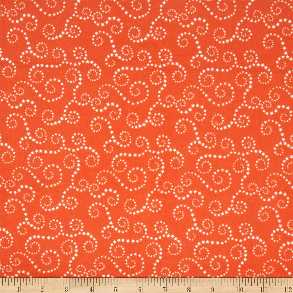 Riley Blake Oh Boy! Flannel Swirls Orange