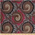 Brazil Stretch ITY Jersey Knit Paisley Red/Multi