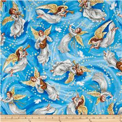 Nativity Metalic Angels Blue