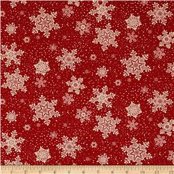Living Lodge Snowfall Red