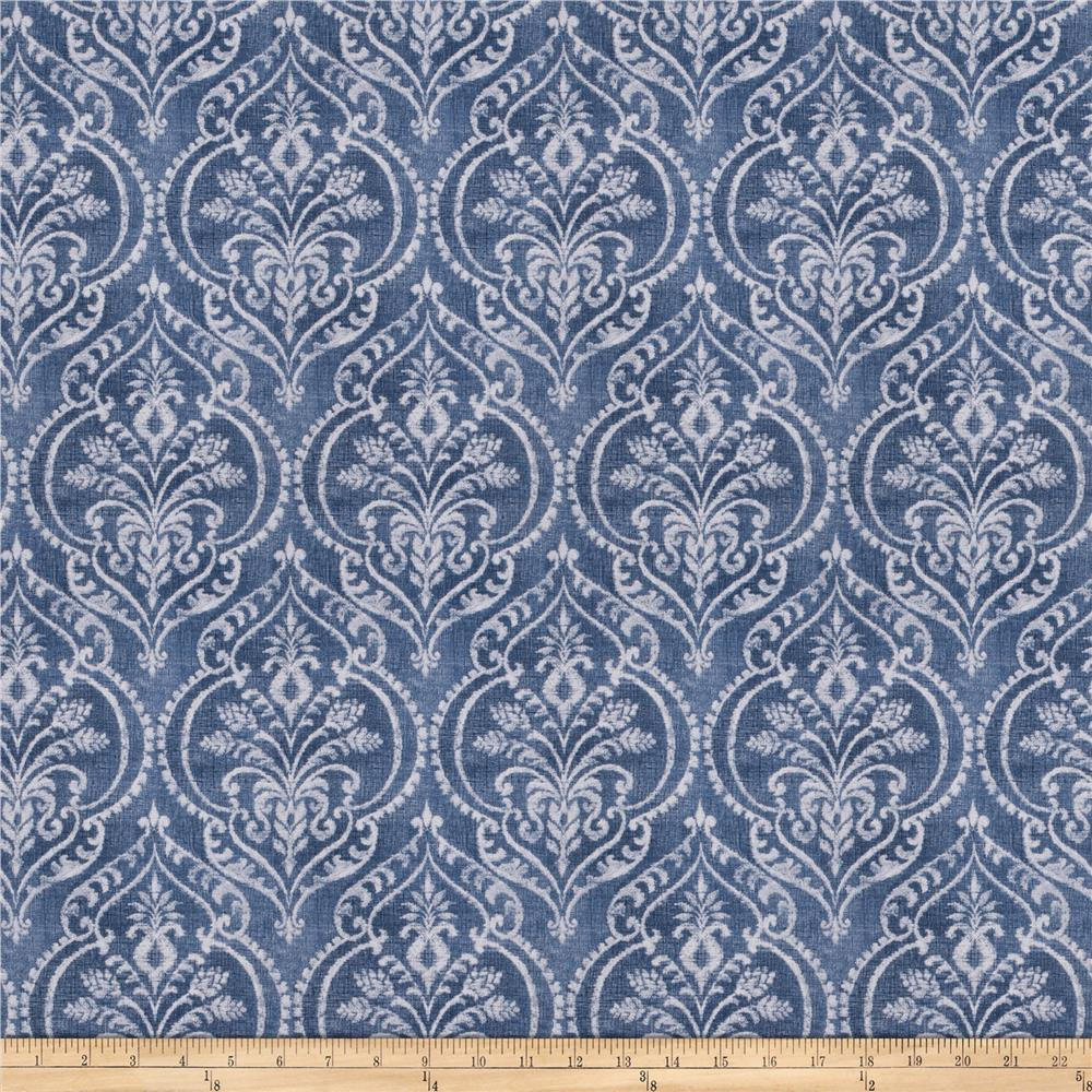 Fabricut outpost damask denim discount designer fabric for Where to order fabric
