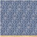 Fabricut Outpost Damask Denim