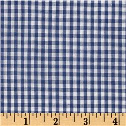 Woven 1/8'' Gingham Royal Fabric