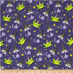 Toil & Trouble Cats/Frogs Allover Purple