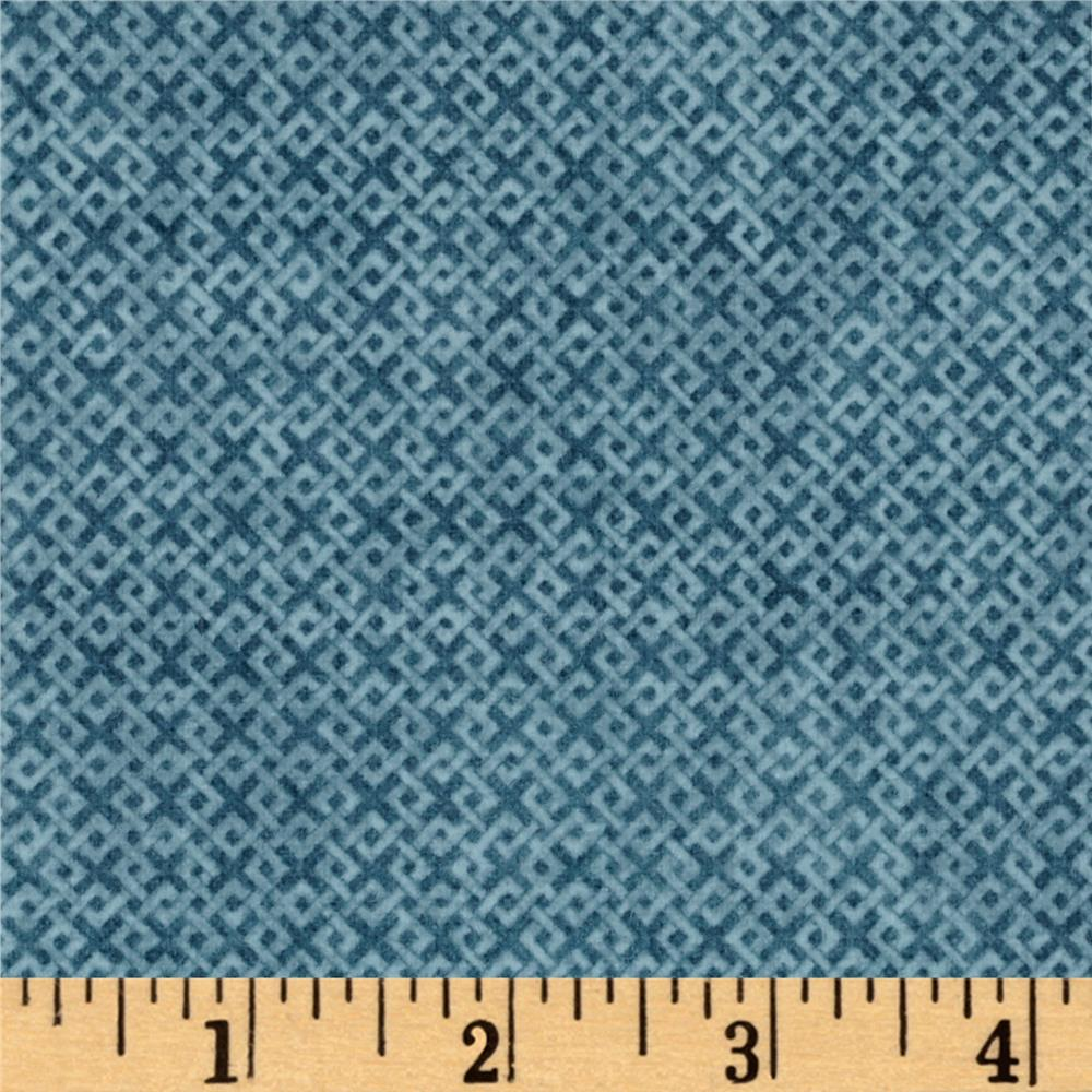 Criss Cross Flannel Dark Teal Fabric By The Yard