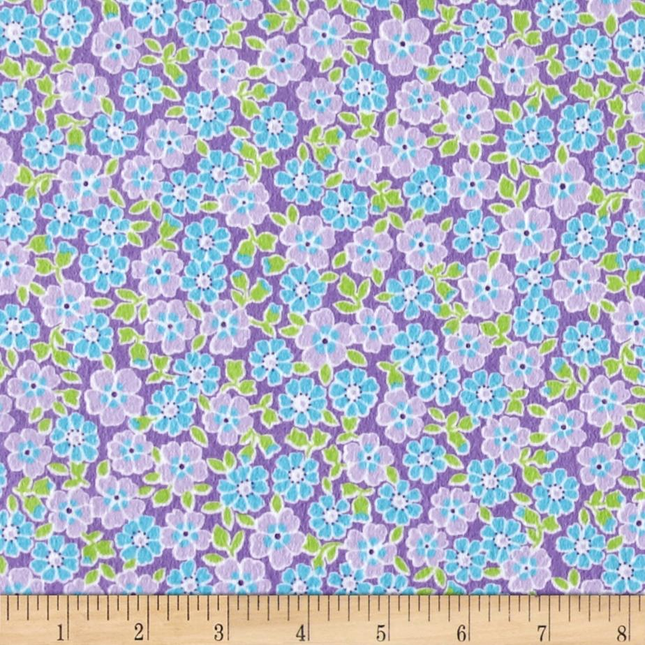 Kaufman Cozy Cotton Flannel Flower Lavender