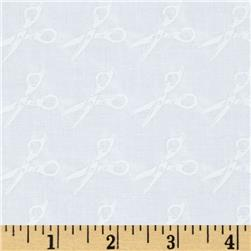 Moda Muslin Mates Scissors White Fabric
