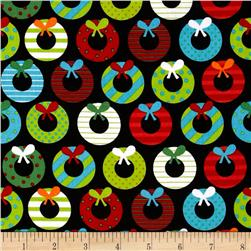 Jingle 2 Holiday Wreaths Bright Fabric